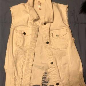 Xhilaration White Demin Vest